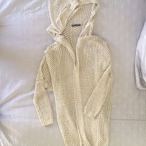 Brandy Melville crocheted wrap cardigan